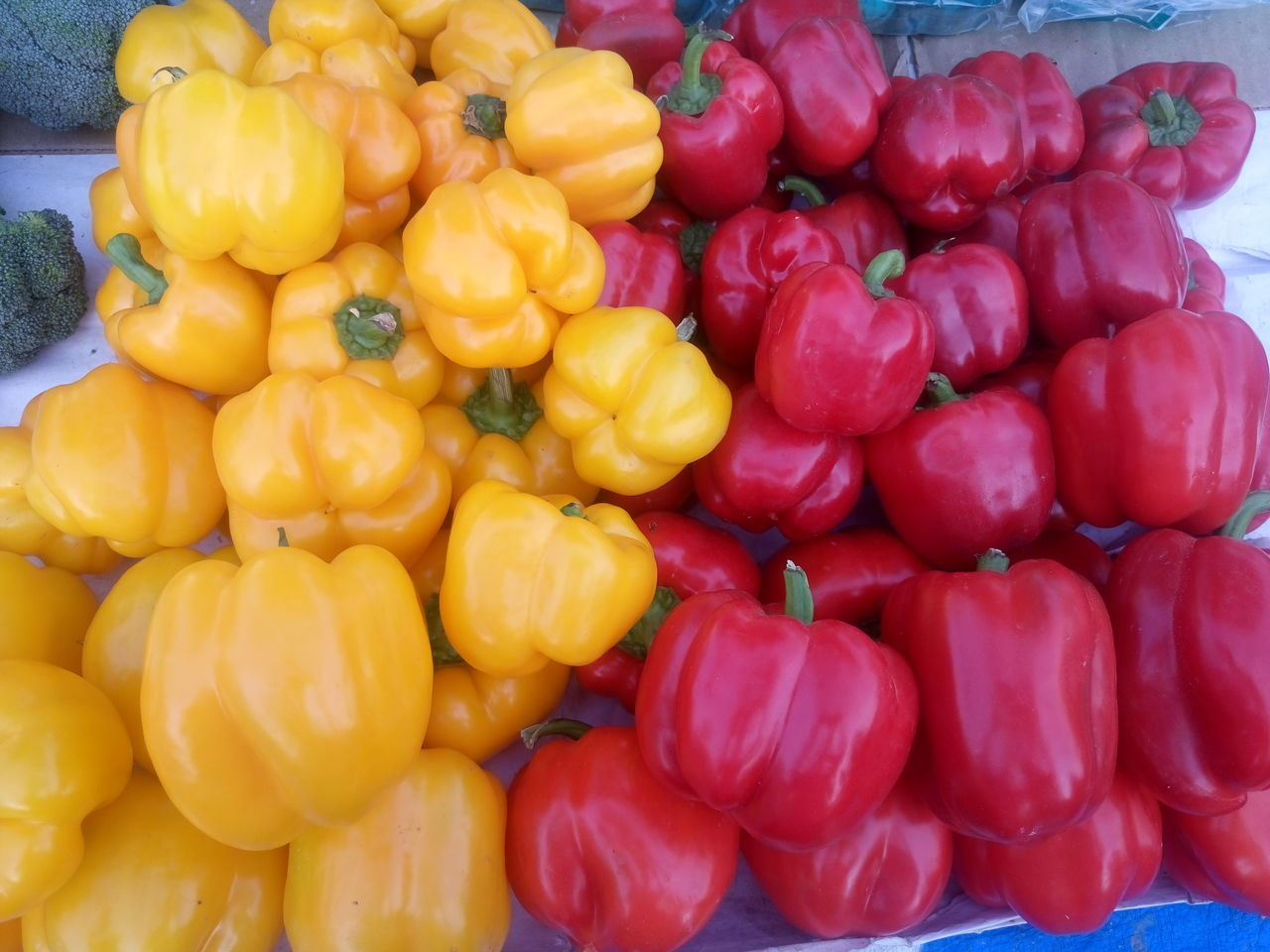 Abundance Bell Pepper Close-up Day Food Food And Drink For Sale Freshness Healthy Eating Large Group Of Objects Market Market Stall No People Outdoors Red Bell Pepper Retail  Vegetable Yellow Bell Pepper