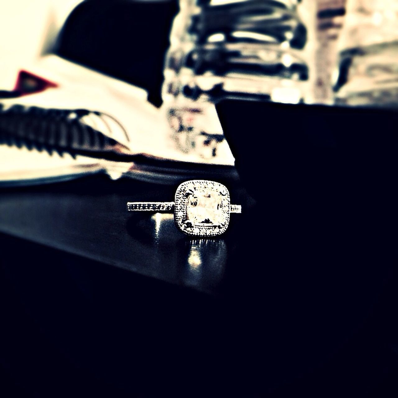 I woke up an turned my camera on my engagement ring Taking Photos IPhoneography Rings Jewelry