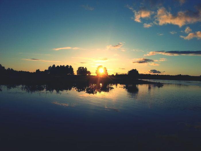 Lapland Finland Landscape Midnightsun