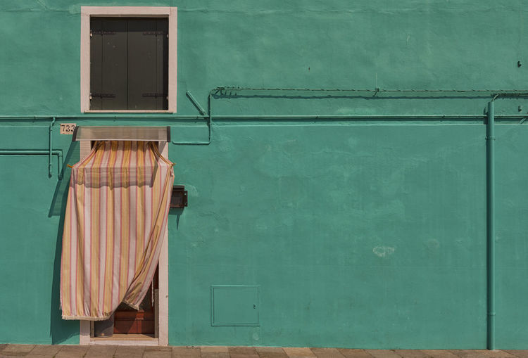 Architecture Building Exterior Burano,Venezia Day Green Color No People Outdoors