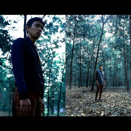 If a man is standing in the middle of the forest speaking and there's no woman around to hear him. Is he still wrong ? Forest Forestquote GeorgeCarlin Georgecarlinquote youngman malemodel standing alone igersindonesia tree wood leaves fallenleaves silentforest nature like4like ? by @gregogery Wardrobe by @inruach_idrtw