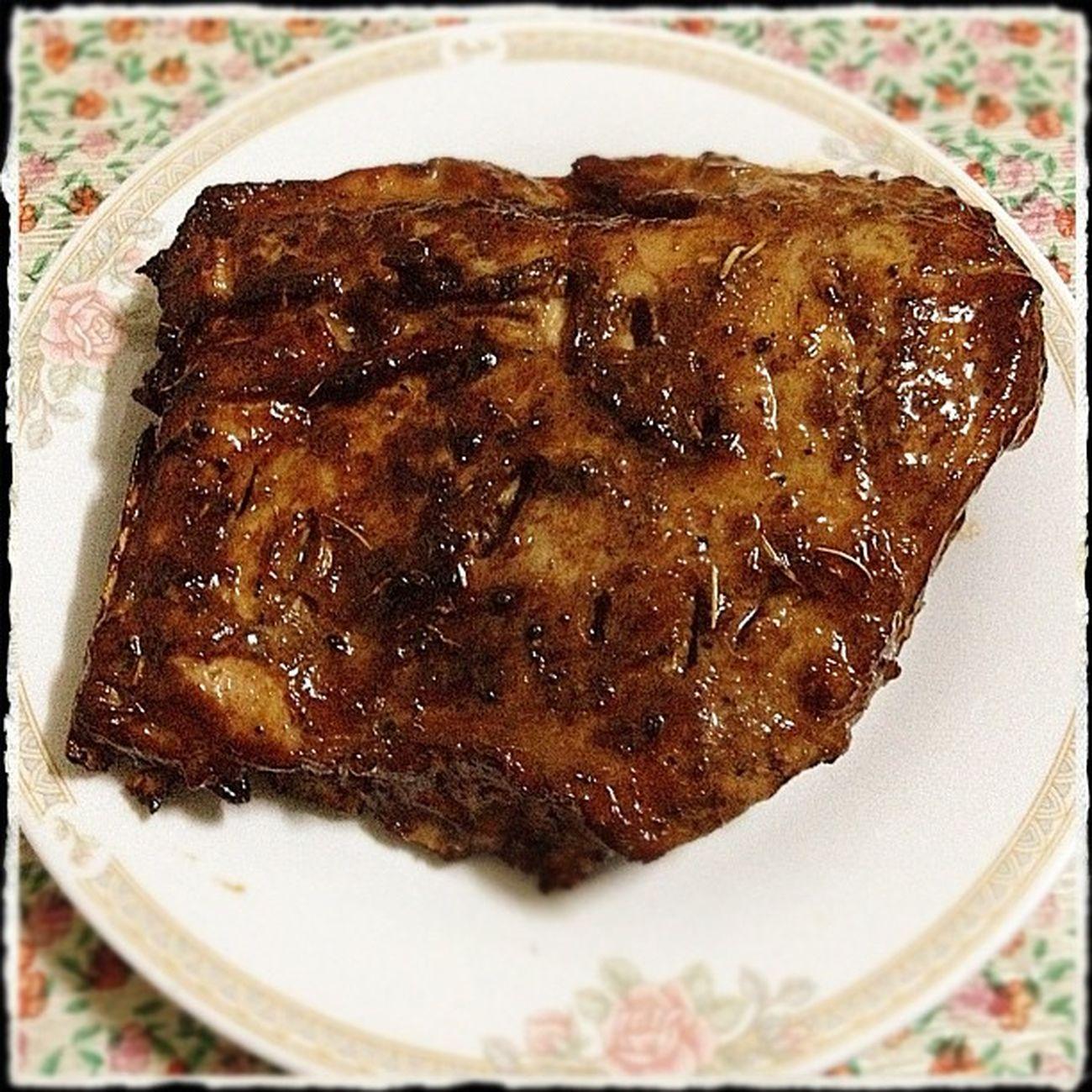 Roasted Pork Rib. (smoked) Supper Dinner