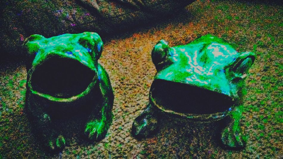 The OO Mission I bought these 2 at a yard sale about 14 years ago. They were made by a couple of Down Syndrom Women. Though I only paid $5 for them,they have become priceless to me. Frogs Ribbit Green Green Green!  Life Long Friendship Live Long And Prosper Hand Made Hand Painted Priceless Labor Of Love Overcomer Inspire Mine ❤ Decoration Like This Or My Monsters Will Get You!