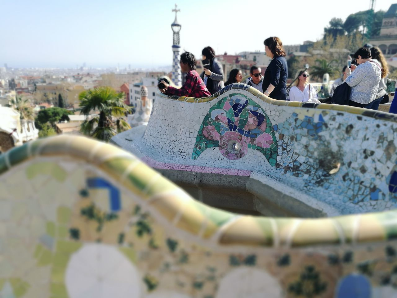 HuaweiP9 Travel Barcelona SPAIN Gaudi Architecture Art Mosaic Guell Monumental Zone Guell Park Building EyeEmNewHere Art Is Everywhere The Architect - 2017 EyeEm Awards