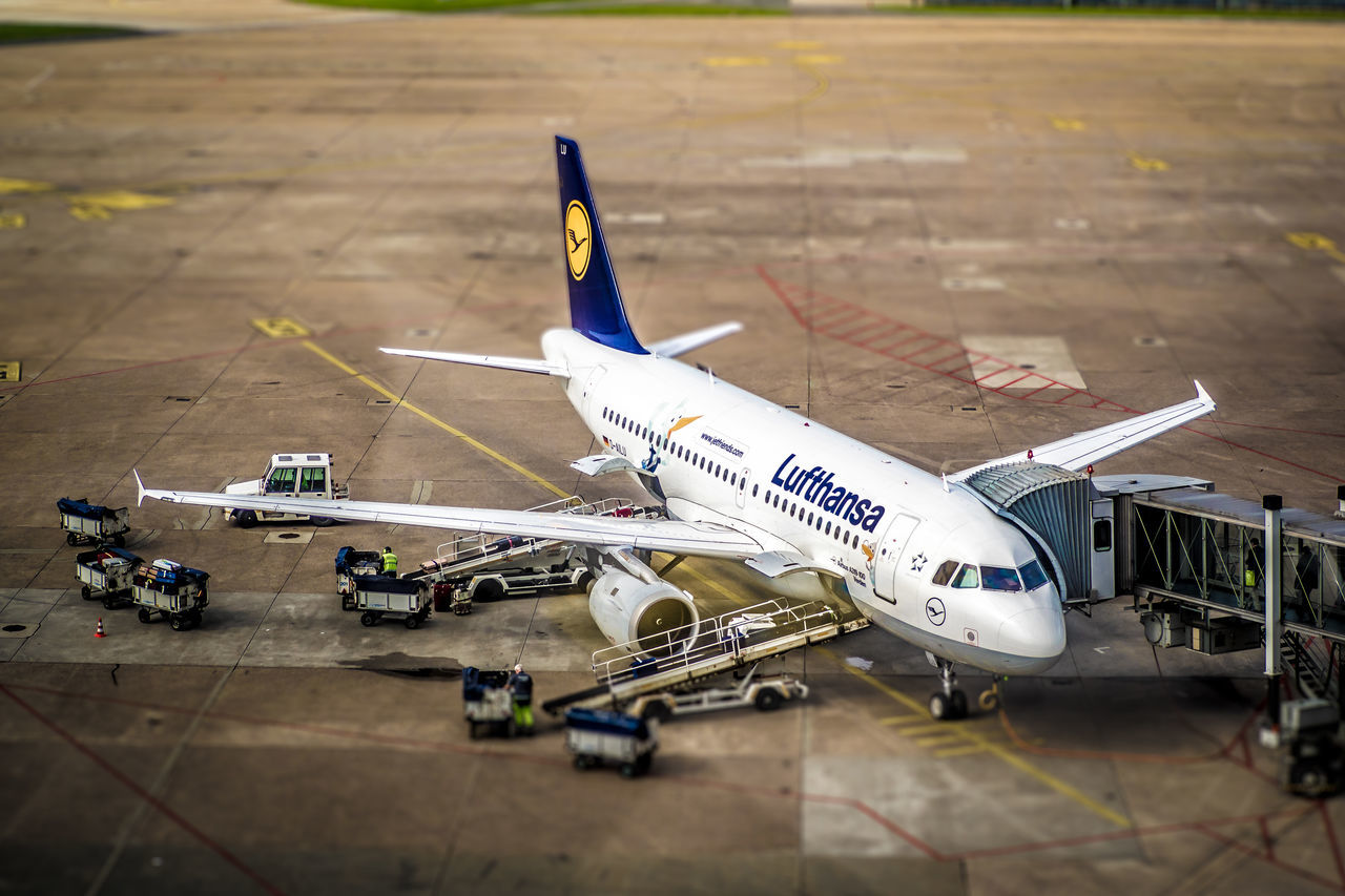 Tiltshift Fun at Hannover airport Aircraft Airplane Airport Flughafen Flying Germany Hannover Miniature Olympus Olympus OM-D EM-1 Olympusomd Plane Tiltshift