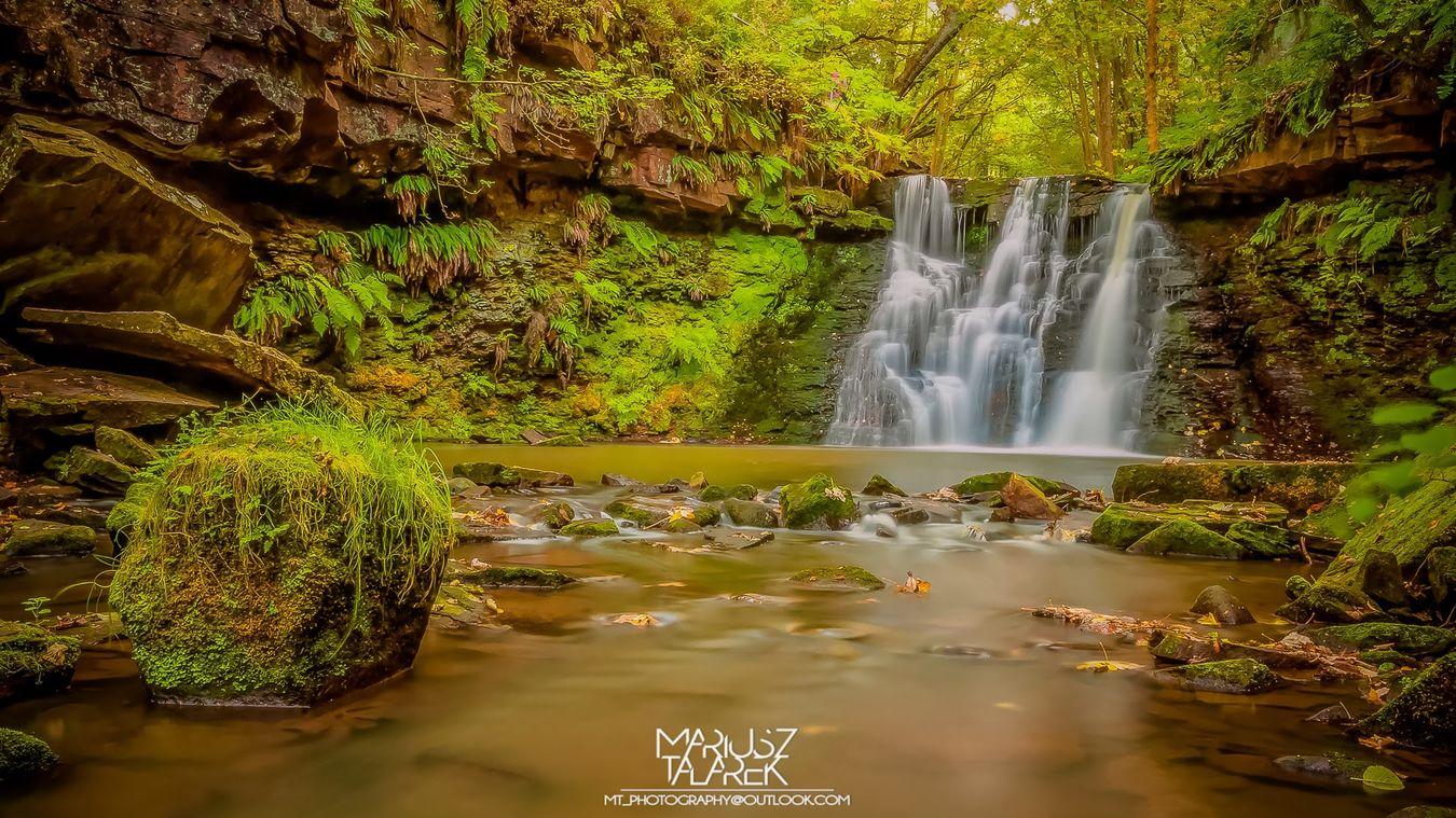 Goit Stock Falls on Harden Beck. West Yorkshire, UK. Landscape Long Exposure Waterfall Addicted2walking