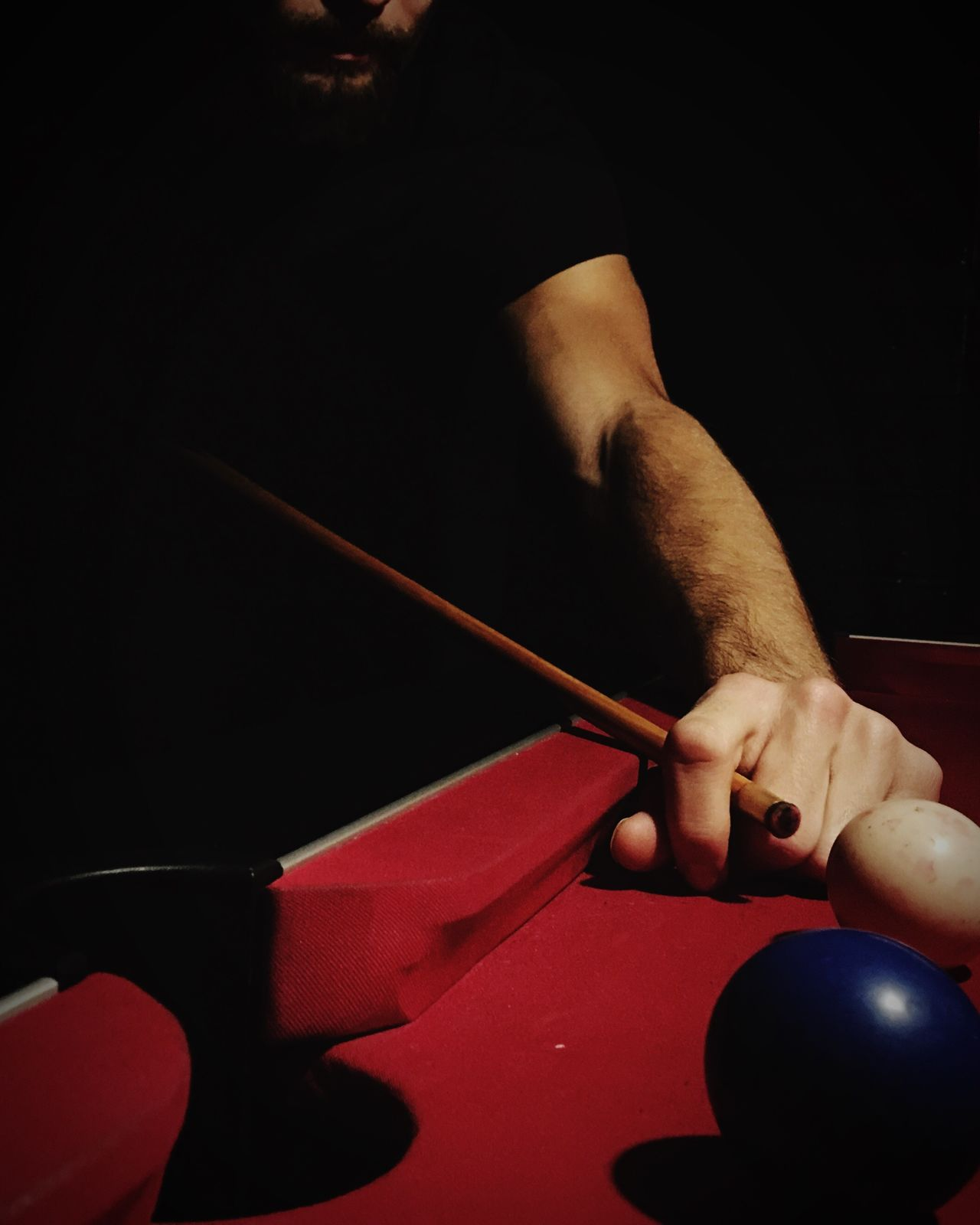 Human Hand Pool Pool Cue Playing Pool Table Pool Ball Man Evening Fun Sexy Complicity Happy My Man Red Evening Light Play Pool Time Pub Night Montpellier