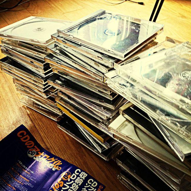 CDのケースを捨てるとこ。 Compact Disc