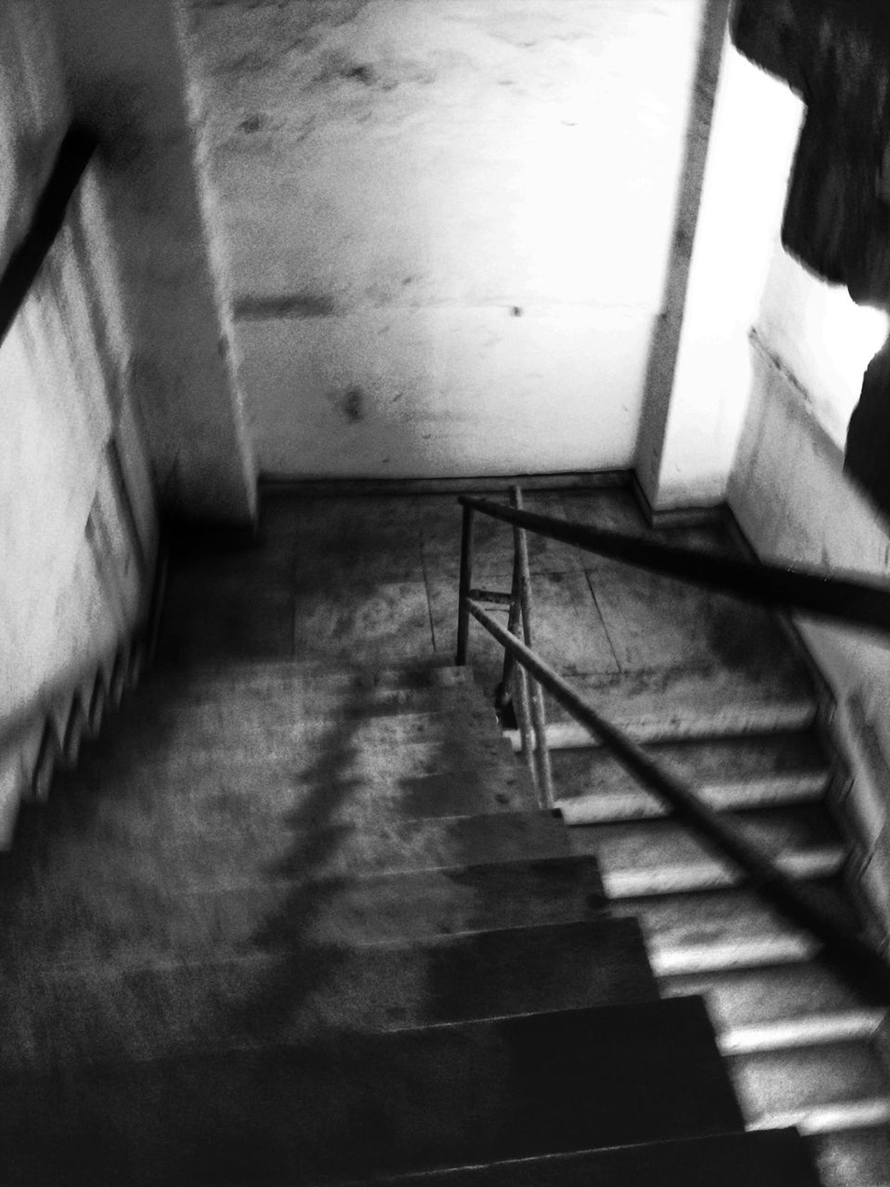 Staircase Steps Steps And Staircases Indoors  Railing Stairs Architecture Day No People Hand Rail Monochrome Black & White Bnw Shadow Indoors  Built Structure TheWeek On EyEem Blackandwhite Indoors  Architecture