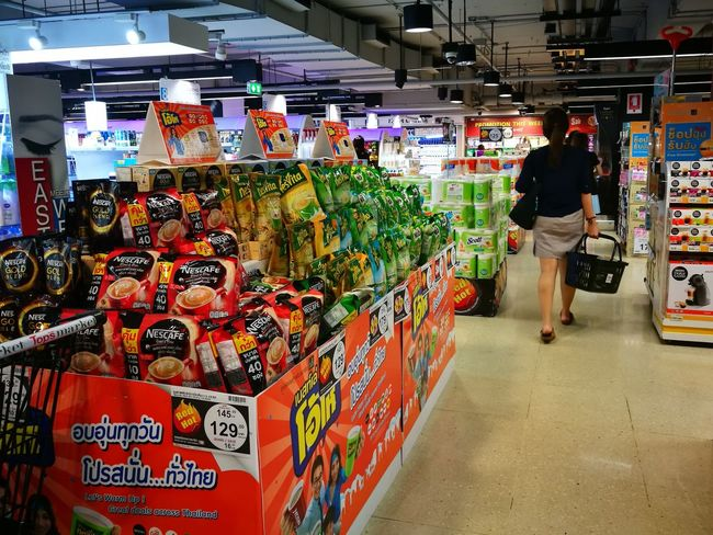Grocery Shopping Groceries Store Market Buying Woman Consumer Products Bangkok Thailand. Retailstore