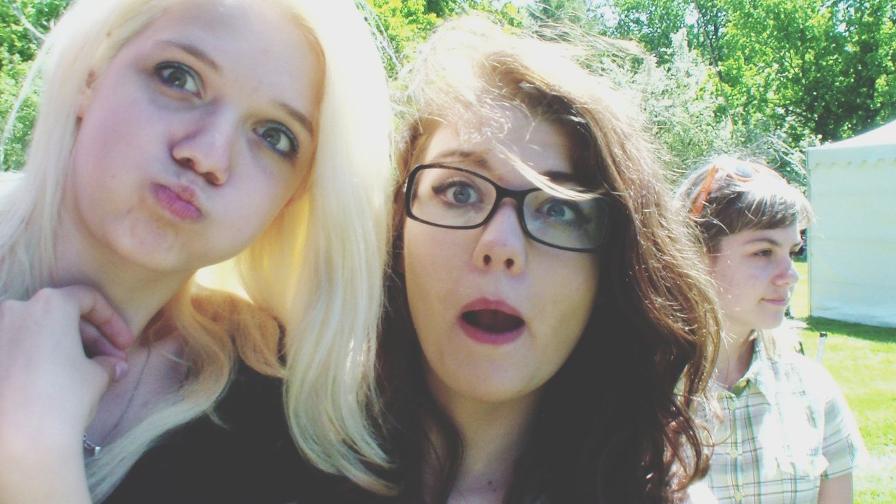 with my friend Aggy.. Friendship Girls Blonde And Brunettes  Weirdfaces