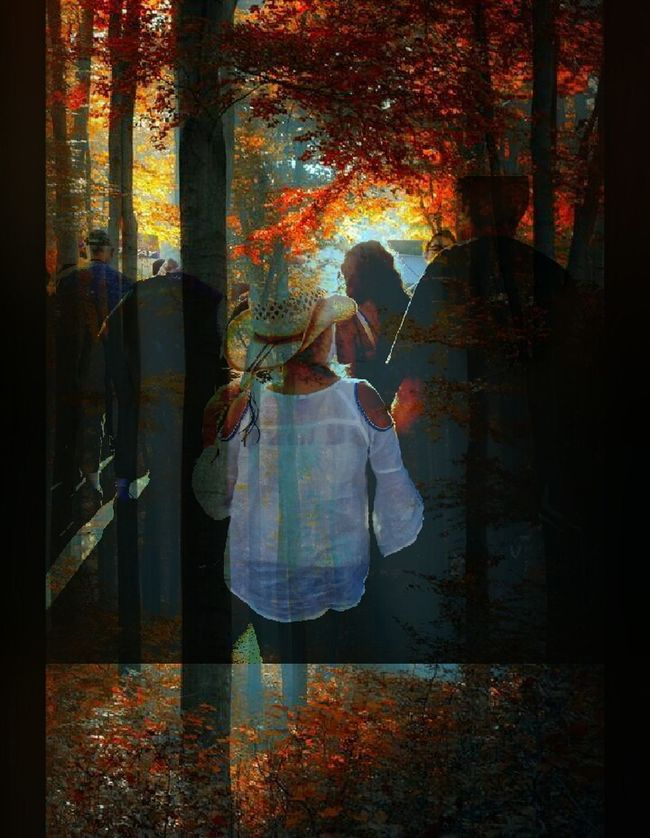 Double-exposure, day at the fair, Autumn, eye-fm, rides, cotton candy, dad's and daughters,. Enjoying Life Childhood Wishes