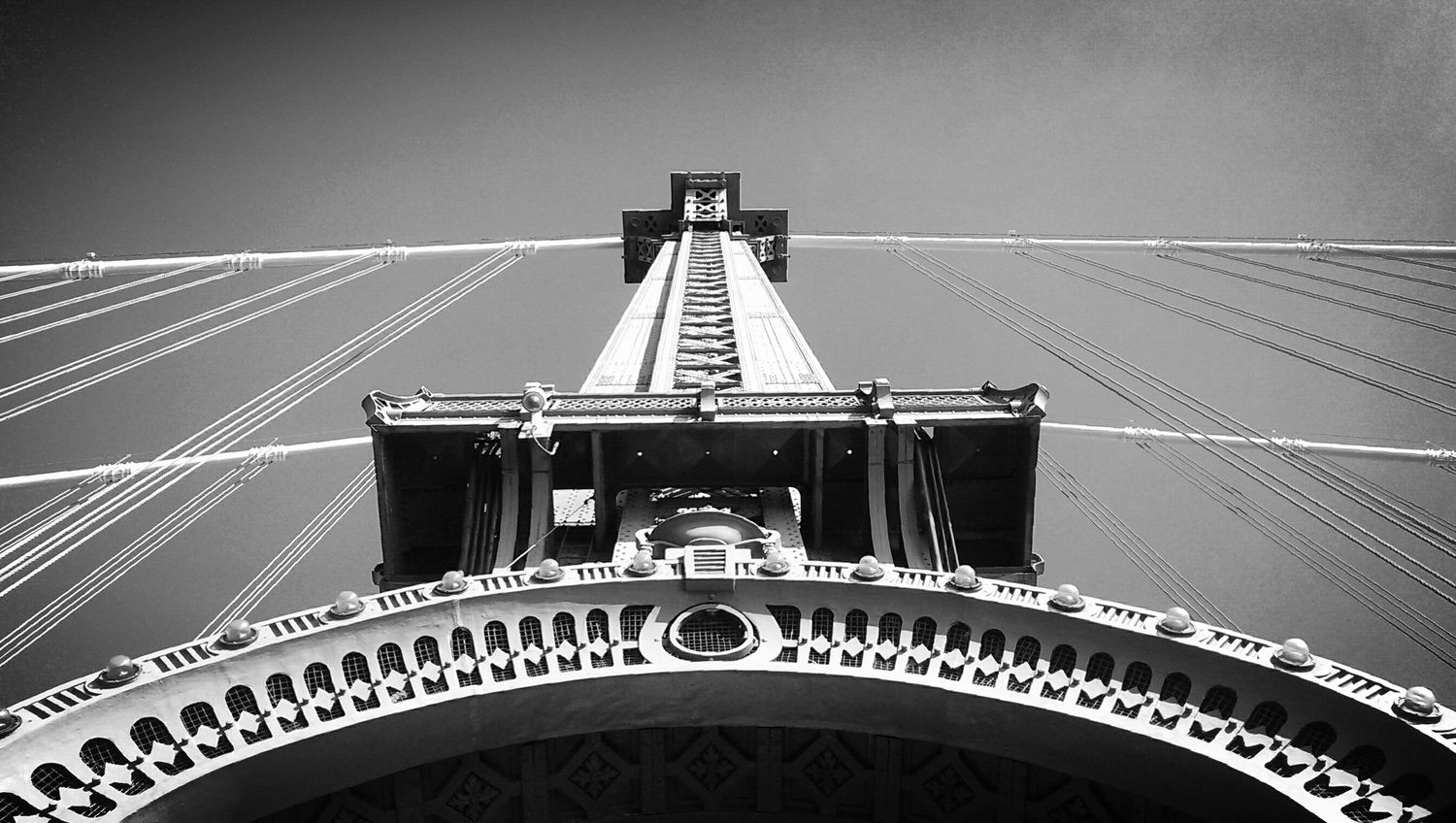 Manhattan Bridge, Black and White, From Brooklyn to Manhattan, NYC Architecture Unique Perspectives From Brooklyn To Manhattan Black And White