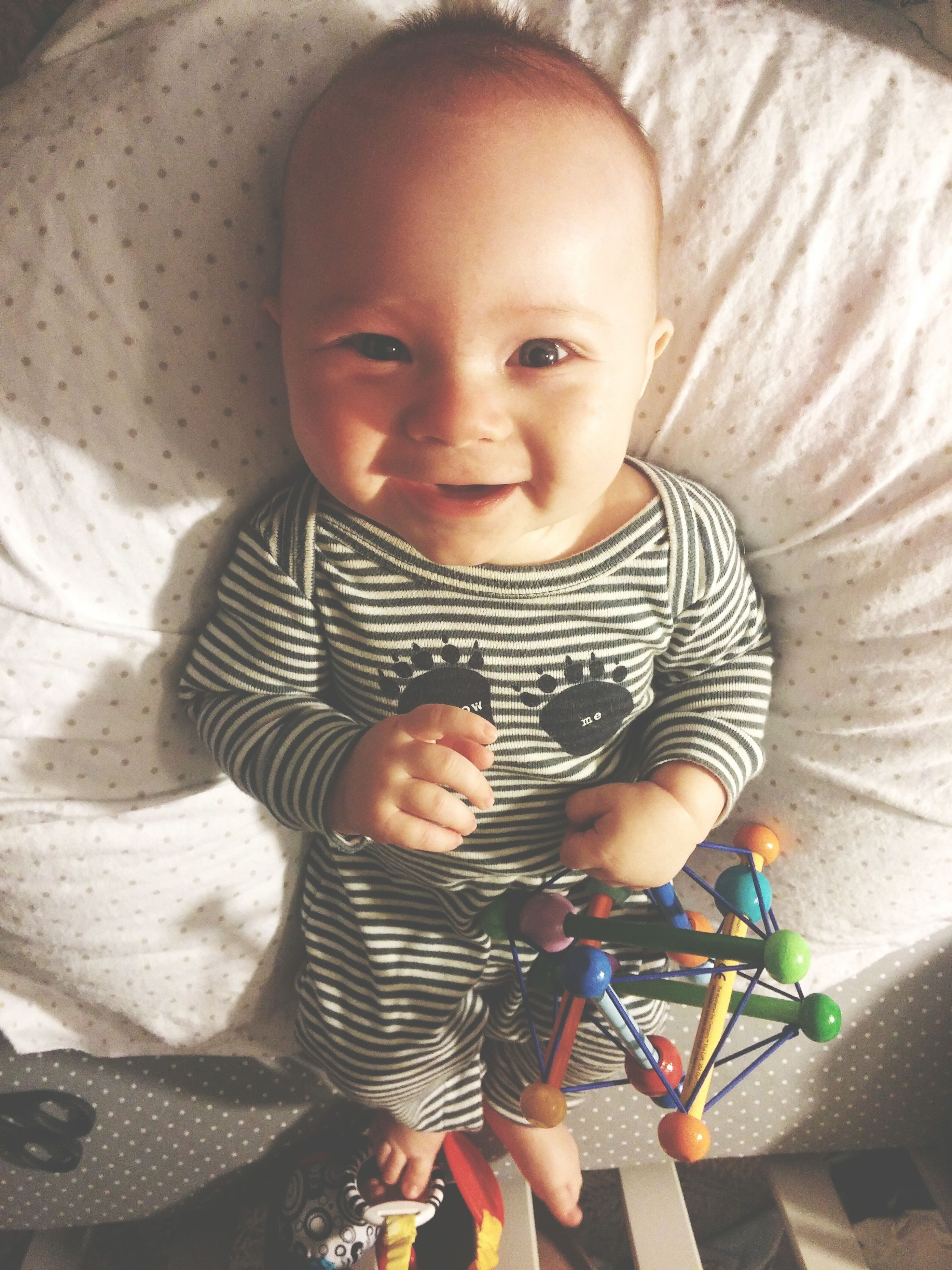 childhood, innocence, elementary age, cute, person, indoors, boys, girls, portrait, looking at camera, casual clothing, toddler, leisure activity, high angle view, lifestyles, babyhood, baby, smiling
