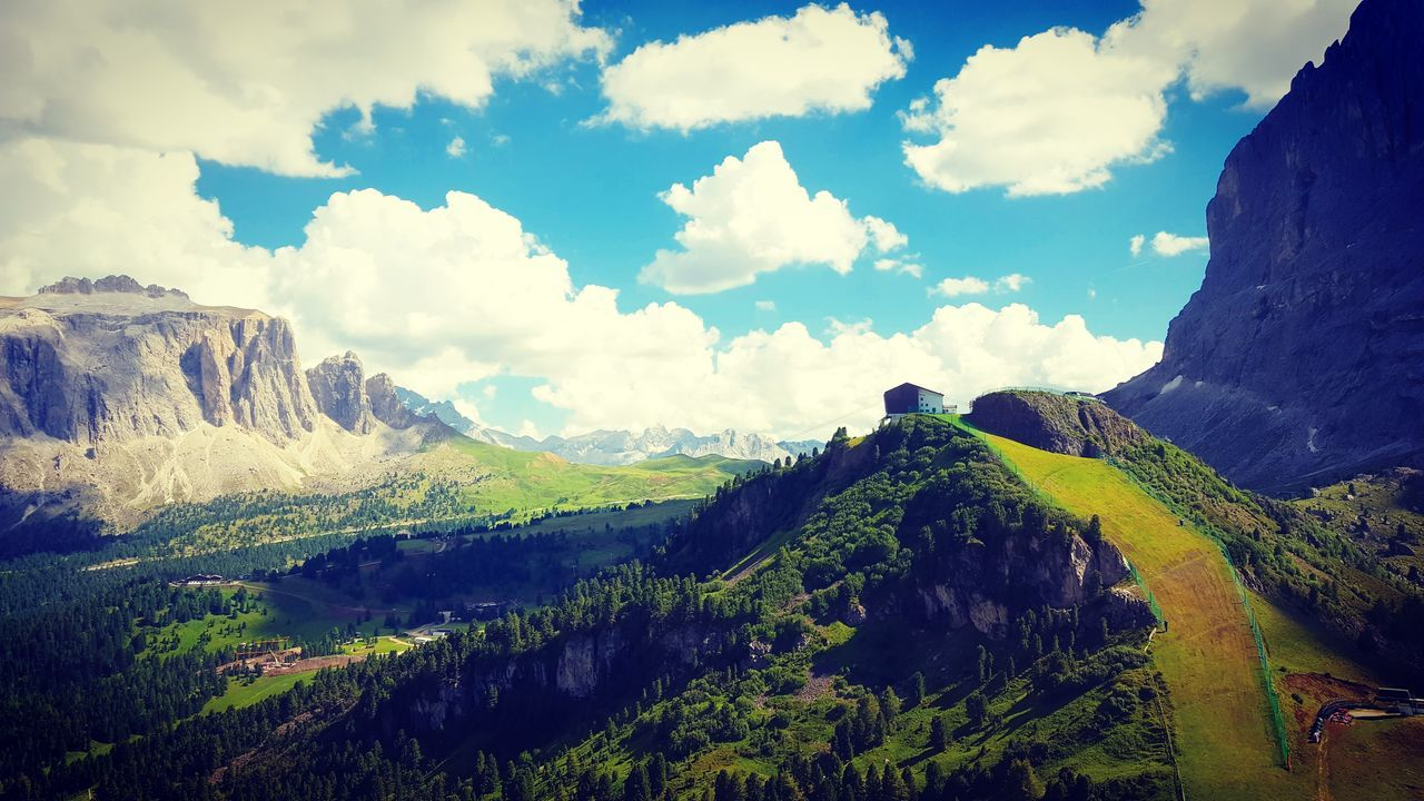 mountain, nature, tranquil scene, scenics, beauty in nature, tranquility, sky, cloud - sky, landscape, no people, day, outdoors, physical geography, mountain range