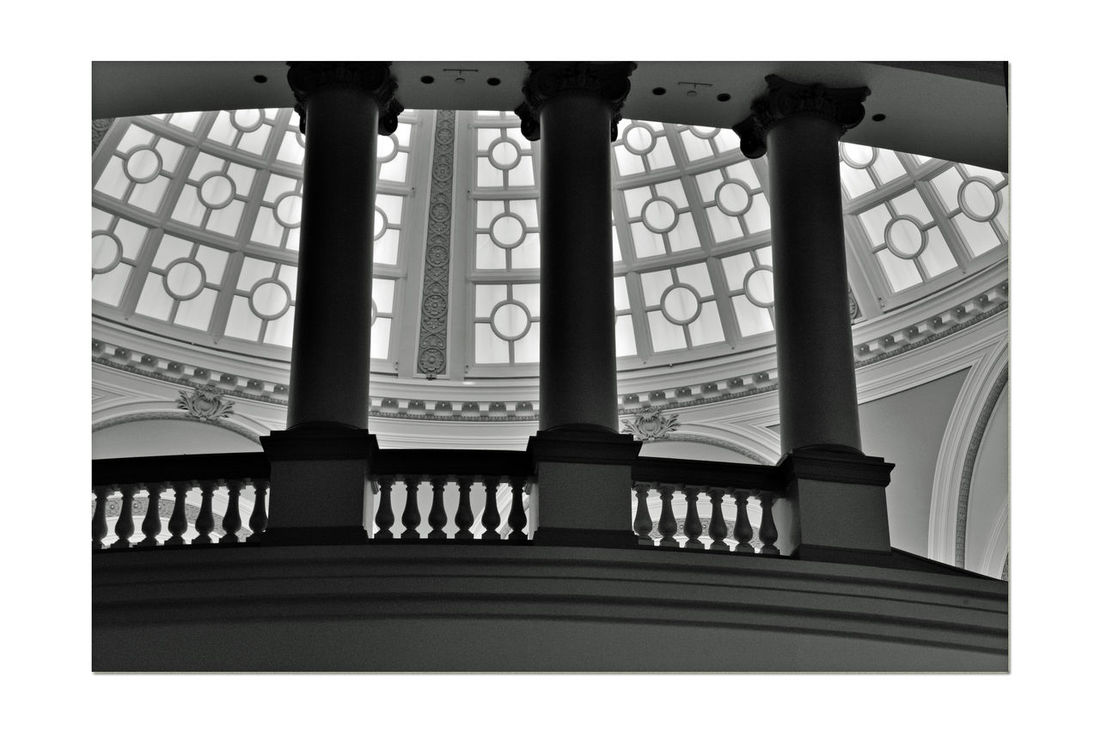 The Dome @ Westfield San Francisco Centre 3 Bmw_friday_eyeemchallenge Ambient Light Natural Light Architect: Albert Pississ 1908 Parrott Building The Dome The Old Emporium Architecture Style: Classicism Western Tradition Architectural Detail Columns Arched Windows Monochrome Photograhy Monochrome Black & White Black And White Photography Black And White Black And White Collection  Silhouette Architecture Features Pattern Pieces