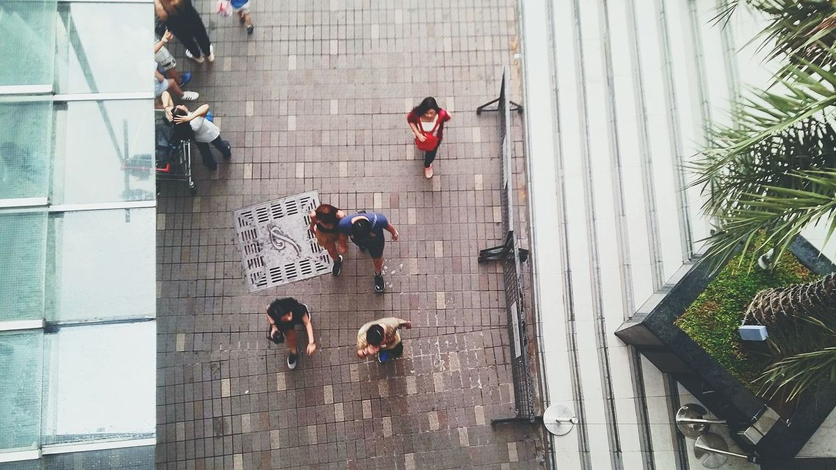 High Angle View Adult Men People Adults Only Large Group Of People Day Outdoors Women Aerial View City Standing Real People Coworker Togetherness Architecture Full Length Pedestrian Building Exterior Friendship Let's Go. Together.