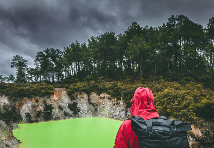 After seeing this place I actually thought 'Dante came to New Zealand before writing the Divine Comedy'. The problem is that after seeing those places you won't want to go to paradise that easily Acid Wai O Tapu Adventure Backpack Beauty In Nature Growth Hiking Nature New Zealand Nofilter One Person Outdoors Real People Rear View Scenics Sulphur Thermal Tree