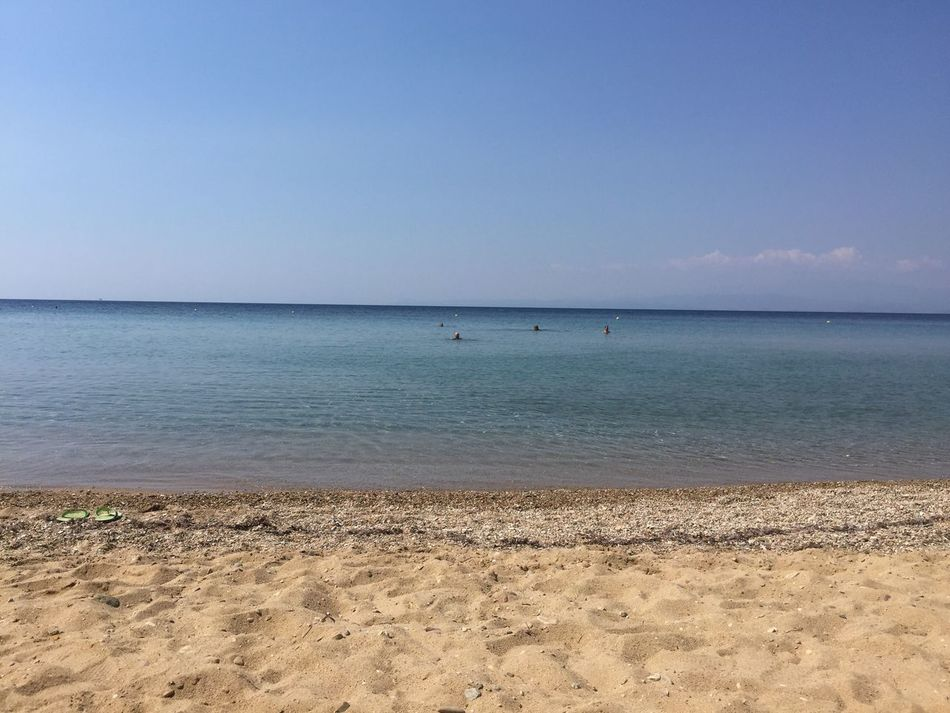 Bonaca. Greece Photos Thassos Island Beach Sea Sand Horizon Over Water Tranquility Blue Waterfront Clear Sky Vacations Calm