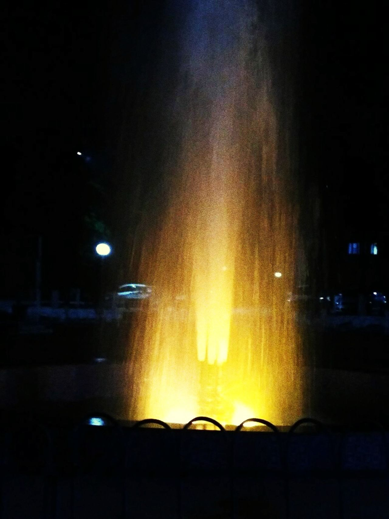 Ounnight Illuminated Tree Water Outdoors Sky Nature Fountain Fun