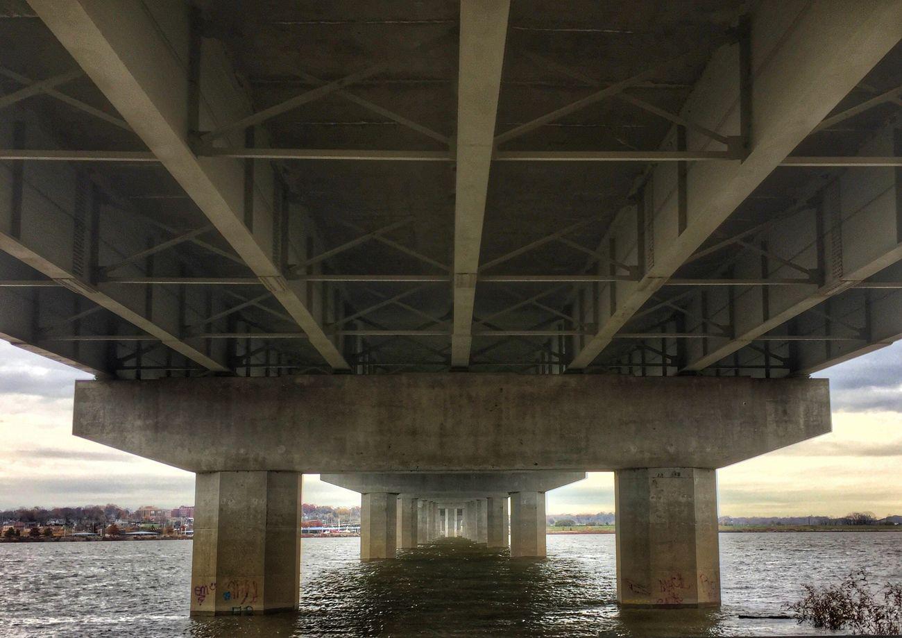 Down under Bridge - Man Made Structure