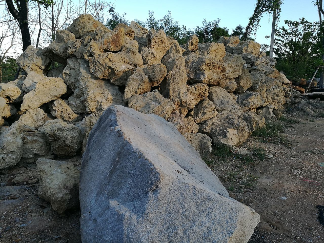 rock - object, stone - object, day, tree, no people, outdoors, rock, nature, sky, pebble, stack, beauty in nature
