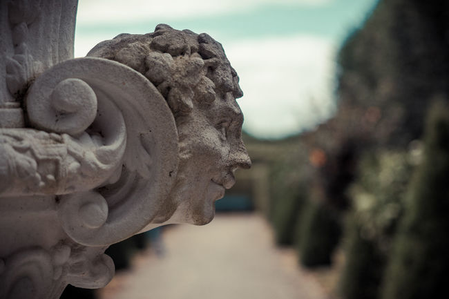 Stoned Barock Close-up Day Face Focus On Foreground Garden History Old Old Style Ornament Ornaments Outdoors Part Of Sculpture Side Portrait Stone Art Stone Material The Past Weathered