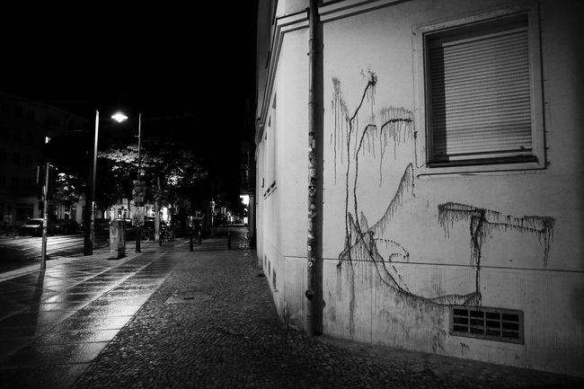 Prenzlauer Berg nachts Street Light Architecture Night City Life Dark Window Façade S/w Trzoska No People City Life City At Home