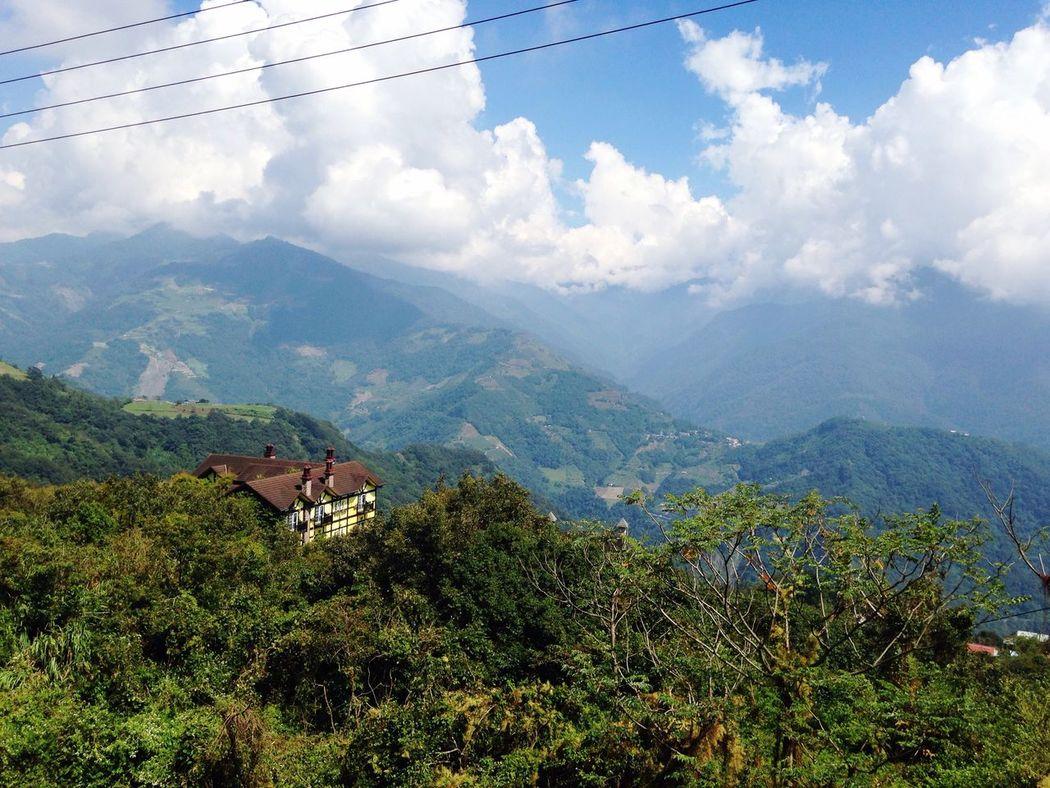 早安普羅 Mountain Tree Cable Tranquil Scene Scenics Landscape Mountain Range Sky