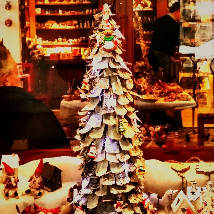 A Christmas tree in widow in Prague Czech Republic. We took a cruise in Europe on the Danube River. This was an extension for three days in Prague Viking River Cruises Christmas Markets Prague♡ Praguestagram Travel Photography NomadicTexan Travelphotography EyeEm Gallery VikingRiverCruise VikingLongshipModi Travel Cruise Vacation Cruising In Style DanubeRiverWaltz Rivercruise Viking Cruises