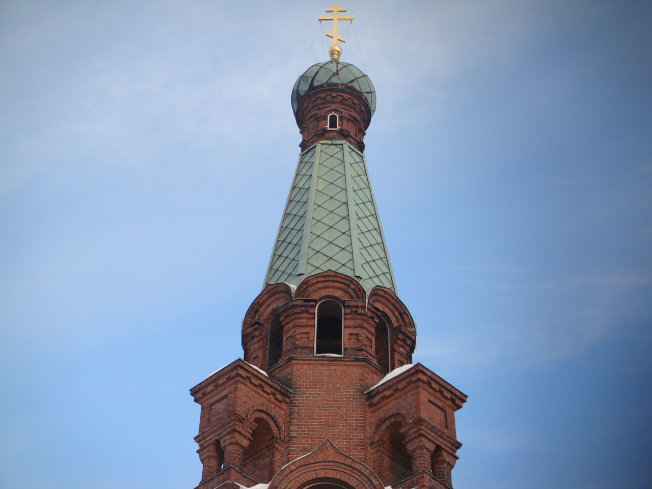 religion, spirituality, place of worship, low angle view, architecture, sky, no people, outdoors, day, building exterior