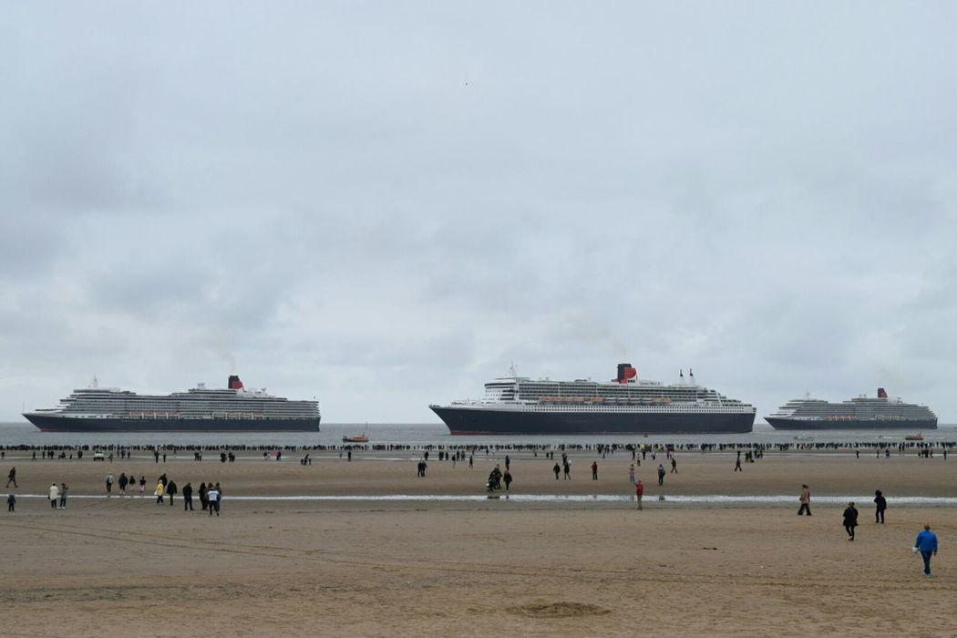 Queen Mary 2 Queen Elizabeth  Queen Victoria  Liverpool