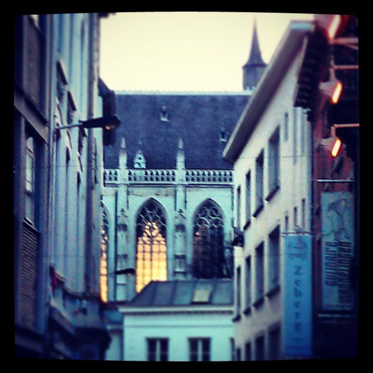 Glow Cathedral Antwerp Sunsetwindow