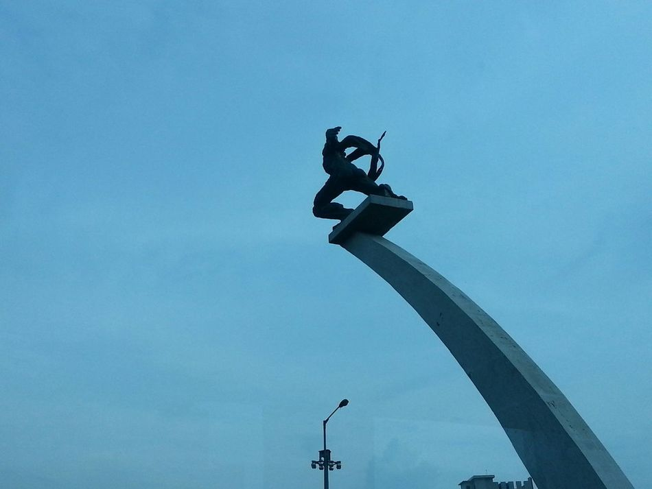 Patungpancoran INDONESIA Taken Through A Moving Bus Window