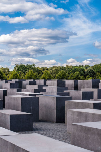 Memorial to the Murdered Jews of Europe in Berlin, Germany Architecture Berlin Concrete Blocks Deutschland Travel Photography Cemetery Concrete Cubes Destination Germany Gray Grey History Memorial Memorial For Murdered Jews Of Europe Memory Monument No People Travel Destinations Travelphotography