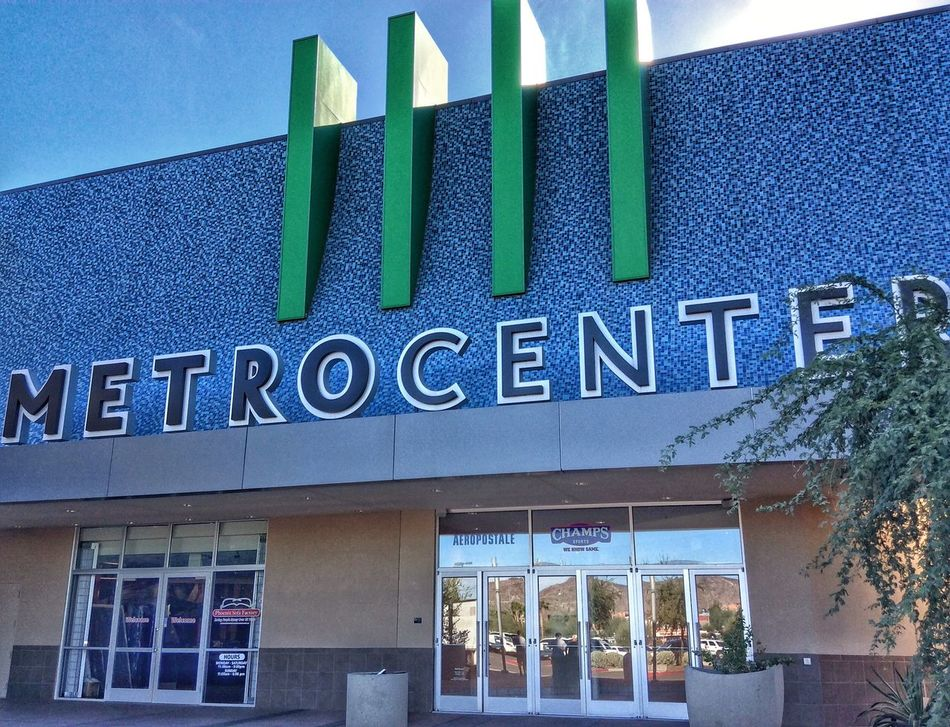 Architecture Building Exterior Built Structure Text No People Sky Entrance Day Outdoors Close-up Horizontal Nostalgic  Metrocenter Shopping Mall Phoenix Arizona Eye For Photography The Way Forward Modern Architecture Entryway Entrance Exit Shopping Time Mall