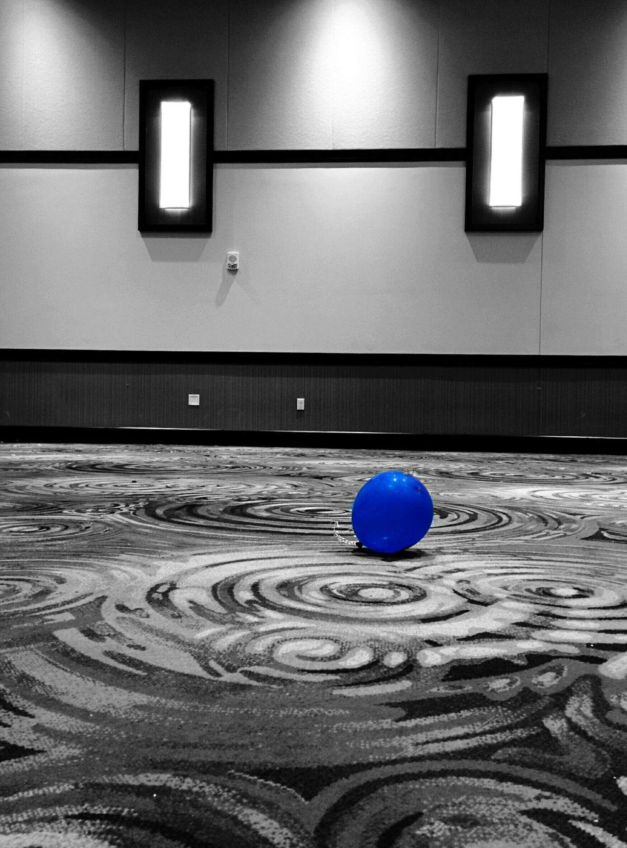 Little lost Balloon Lonely Banquet Hall Leftover Decorations