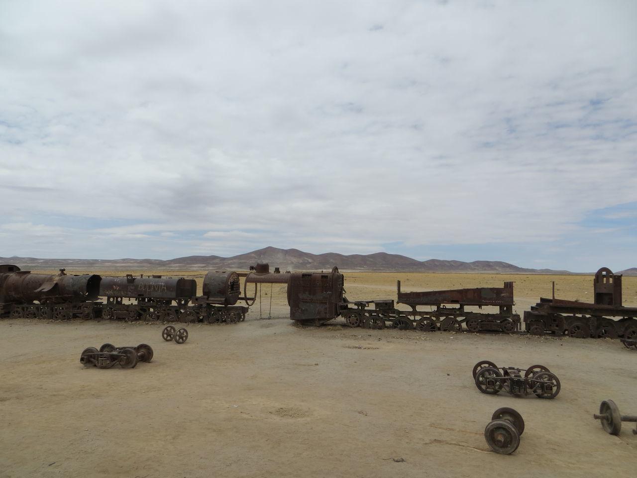 Beautiful stock photos of train, Abandoned, Arid Climate, Cloud - Sky, Cloudy
