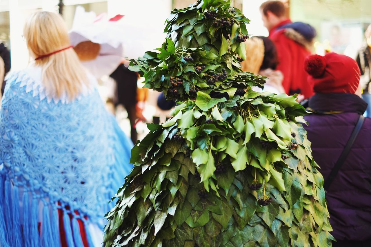 Think green. Act green. Be green. Women Adults Only Only Women Celebration Adult People Real People Outdoors Day Young Adult Nature Green Ecology Green Color Costume Costume Party Planet Earth Forest Save The Nature