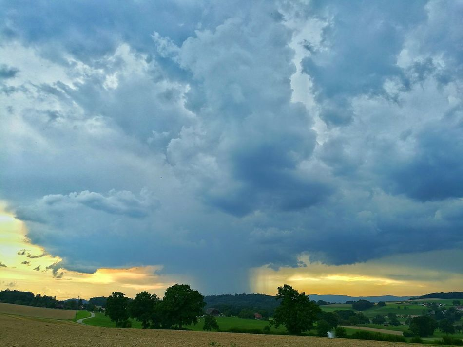 Colour Of Life Rainy Days Claudy Sky Nightfall