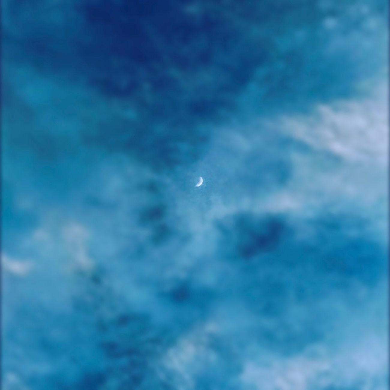 Blue Nature Cloud - Sky Moon No People Astronomy Enjoying Life