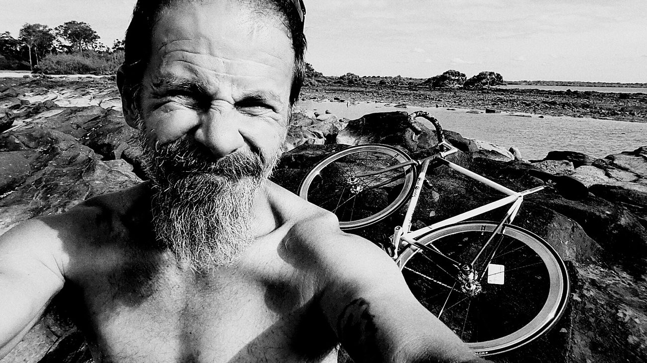 Silly Bugger😜😝😛 Selfie ✌ Black And White My Mo For Movember Celebrate Your Ride
