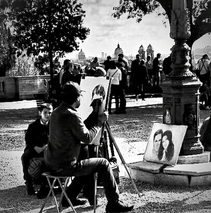 Painting Portrait Artist Model Painting Portrait Rome