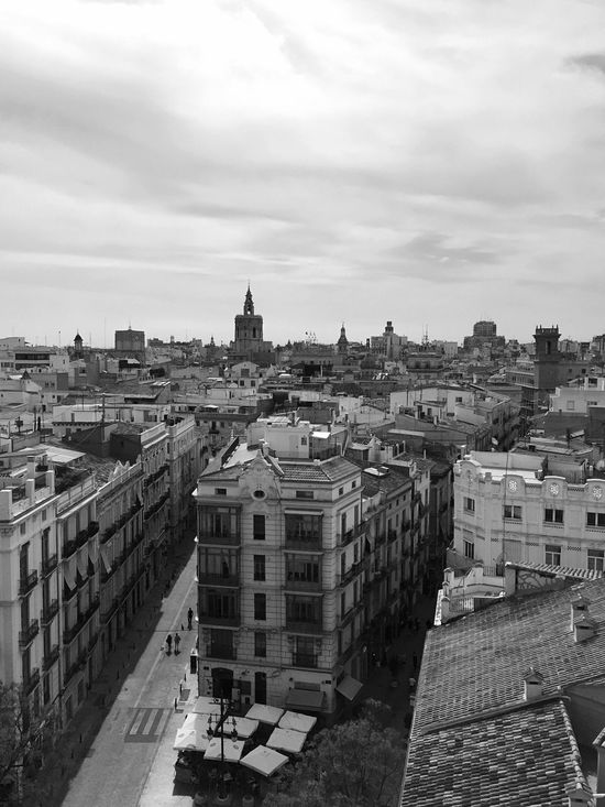 Architecture Built Structure Building Exterior Sky City High Angle View Cloud - Sky Cityscape Outdoors Day No People Travel Destinations Roofs View From Above Valencia, Spain Cityscape SPAIN Torres De Serranos