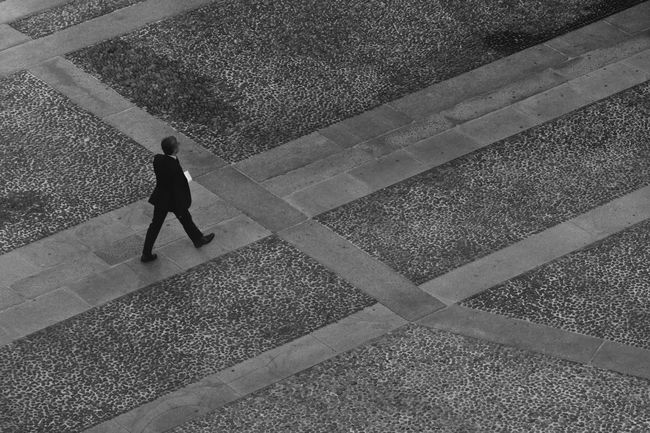Monochrome Photography Blackandwhite Walking Man Real People Outdoors Milano Lombardia Italy Work Inspirations