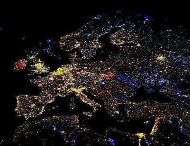 Europe Europe At Night