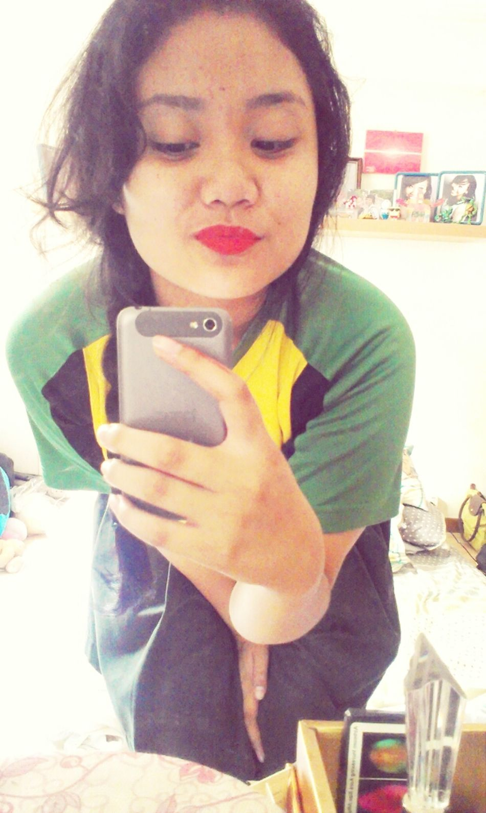 fell in love with tis red hot mat lipstick