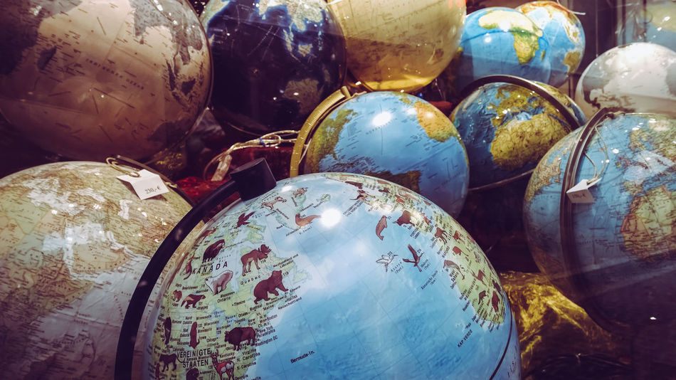 Backgrounds Close-up Collection Continent Education Globe Learning No People Ocean Store Window Variation World Globe