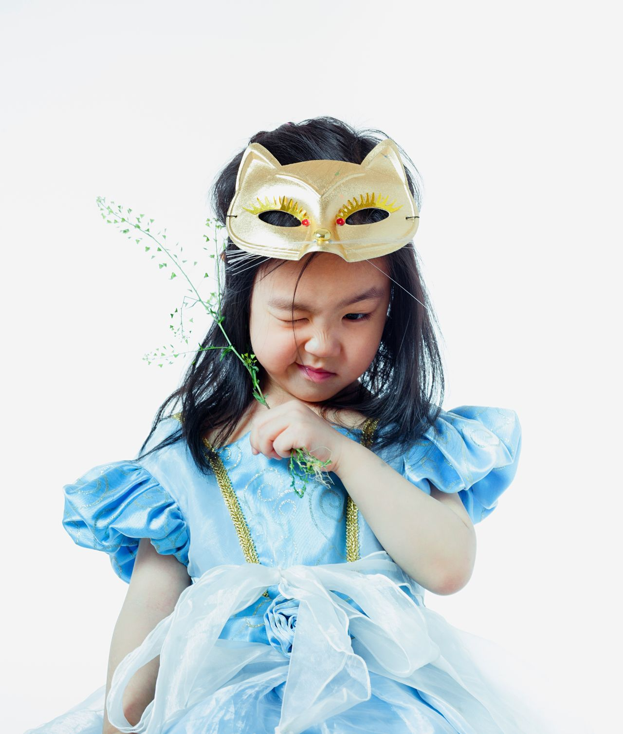 Cinderella 4yearsold One Girl Only Girls Child Childhood Children Only One Person Dressing Up Crown Tiara Disguise Princess Portrait Cape  Front View Costume Headshot People White Background Halloween Cute
