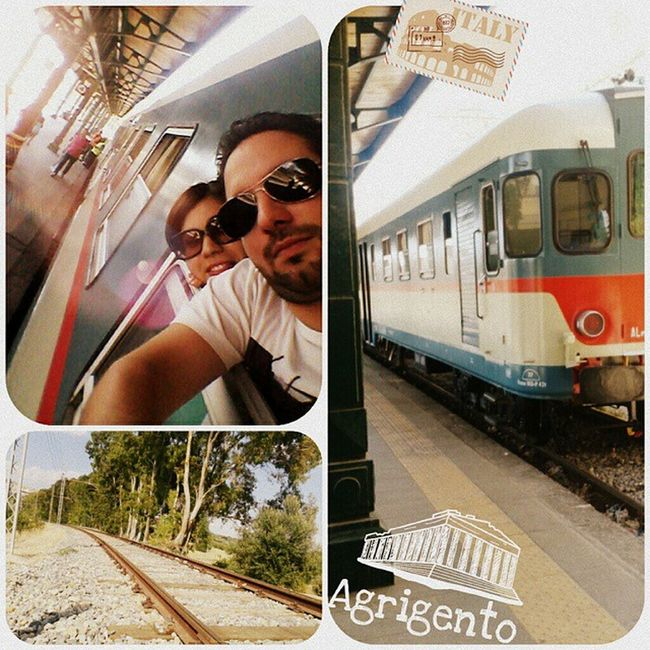 Agrigento Girgenti Sicilia Sicily italia italy treno train vintage valledeitempli giardinodicolimpetra estate2014 @annamariabutera @ig_sicily